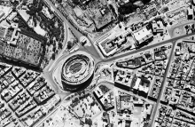Aerial photograph of Rome