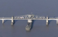 Aerial photography of bridges