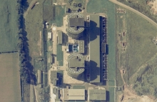 Nuclear power station aerial photography