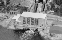 Hydro power station aerial photograph