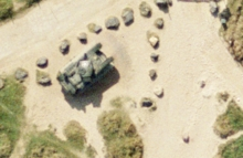 D-Day tank aerial photograph