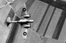 Aerial photograph of Blenheim bomber