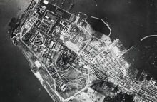 Aerial photograph of Kowloon, Hong Kong in 1924